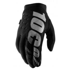 Rękawiczki 100% BRISKER Glove black grey roz. L (długość dłoni 193-200 mm) (NEW)