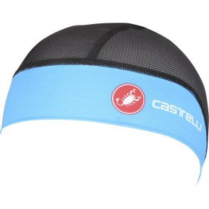 Castelli Czapeczka kolarska pod kask Summer Skullcap, czarno-niebieska, rozmiar UNI