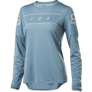 Koszulka Rowerowa Fox Lady Z Długim Rękawem Flexair Light Blue