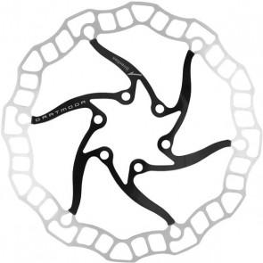 Tarcza hamulcowa Nano 160 mm, ze śrubami, czarna