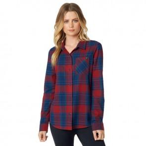 Koszula Fox Lady Kick It Flannel Dark Red S