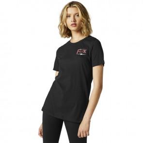 T-shirt FOX Lady Pushin Dirt czarny