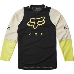 Koszulka Rowerowa Fox Junior Z Długim Rękawem Defend Black