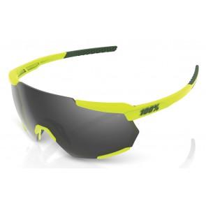 Okulary 100% RACETRAP Soft Tact Banana - Black Mirror Lens (Szkła Czarne Lustrzane, przepuszczalność światła 11% + Szkła Przeźroczyste, przepuszczalność światła 93%) (NEW)