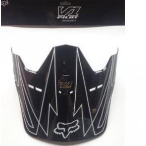 Daszek Do Kasku Fox V-1 Whitewall Black