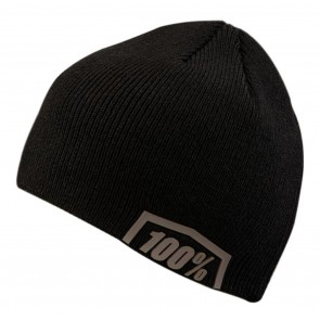 Czapka 100% ESSENTIAL Beanie black steel grey (NEW)