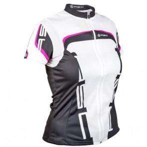 Koszulka damska AUTHOR LADY SPORT biało-czarno-różowa XL