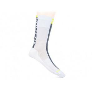 Skarpetki kolarskie AUTHOR Stripe biało-szaro-żółte 41-44