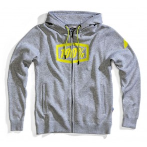 Bluza męska 100% SYNDICATE Hooded Zip Sweatshirt Grey Heather roz. L (NEW)