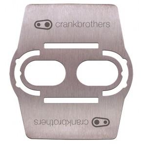 Crank Brothers Podkładki pod bloki do pedałów Shoe Shields Srebrne