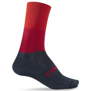 Skarpety GIRO COMP RACER HIGH RISE midnight red roz. M (40-42) (NEW)