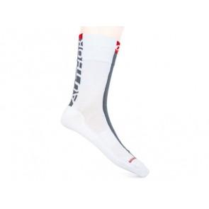 Skarpetki kolarskie AUTHOR Stripe biało-szaro-czerwone 37-40