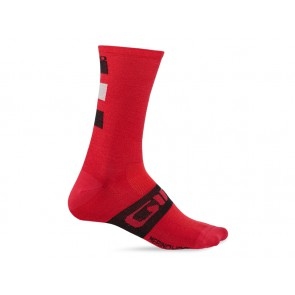 Skarpety GIRO SEASONAL MERINO WOOL dark red black grey roz. L (43-45) (NEW)