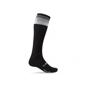 Skarpety GIRO HIGHTOWER MERINO WOOL black grey stripe roz. XL (46-48) (NEW)