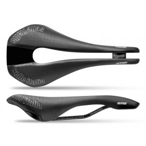 Siodło SELLE ITALIA NOVUS SUPERFLOW ENDURACE TM S (id match - S3) manganese tube 7, duro-tek, czarne (NEW)