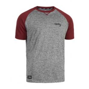 Koszulka ROCDAY Park szary/czerwony
