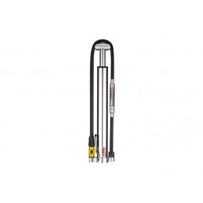 Lezyne 2016 Micro Floor Drive HVG ABS pompka ręczna 90psi 300mm srebrna + manometr