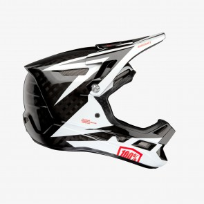 Kask full face 100% AIRCRAFT CARBON MIPS Helmet Rapidbomb/White roz. L (59-60 cm) (NEW)
