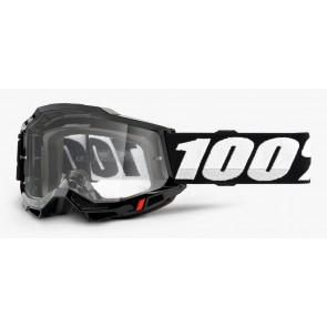 Gogle 100% Accuri 2 black (szyba clear Anti-Fog)