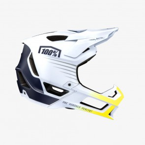 Kask full face 100% TRAJECTA Helmet White Navy